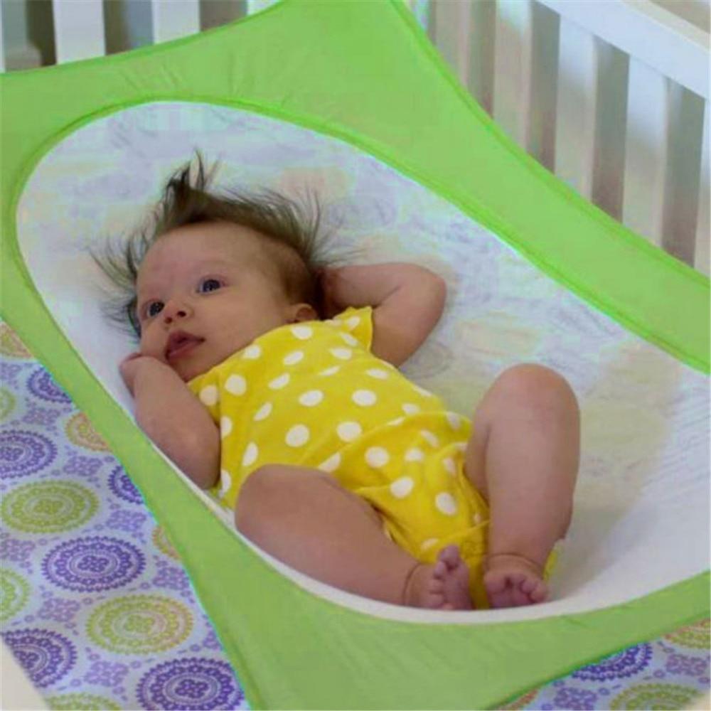 Складной Детские кроватки для новорожденных Портативный Кровати раскладушку кровать путешествия манеж Подвесные качели гамак кроватке ре...