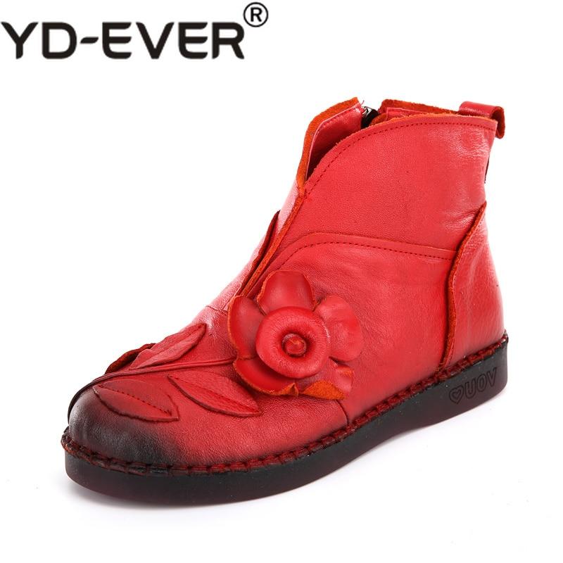 Zapatos Hecho Pies Cuero De Genuino Los Negro Martin rojo Las Moda Ronda  Tobillo púrpura Vintage A Mujer ... ba9e6dc8980