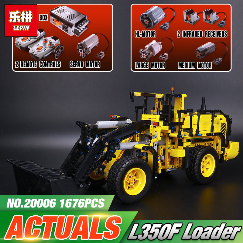 LEPIN 20006 technic series The L350F wheel loader Model Building Kit Blocks Bricks Educational Kids Toys Compatible with 42030 steven heston l  the heston model and