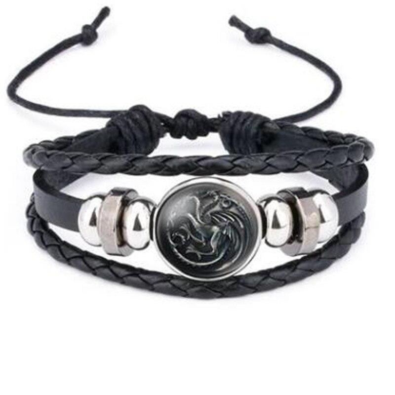 New Arrival Game Of Thrones Figure Toys Stark Direwolf 9 Family Logo Bracelet Boys Cosplay Costumes Badge Gift Halloween Decor