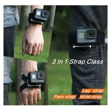 лучшая цена 3 in 1 360 Degree Rotary Glove Mount + Wrist Strap Mount + Leg Strap Mount for GoPro Hero 7 6 5 4 3 SJCAM Accessories