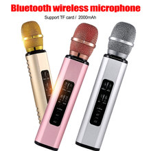 Metal Mikrofon MIC Bluetooth Speaker for Phone Computer Wireless Microphone Record Music Condenser Karaoke Microfone 100% original samson go mic clip microphone computer portable usb condenser video record wav microphone for laptop ipad juitar