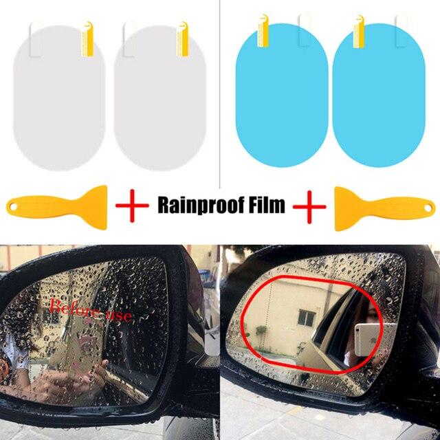 Espelho Retrovisor Do Carro Universal Película Protetora Anti Nevoeiro Espelho de Carro Filme Janela Película Transparente Membrana À Prova de Chuva À Prova D' Água