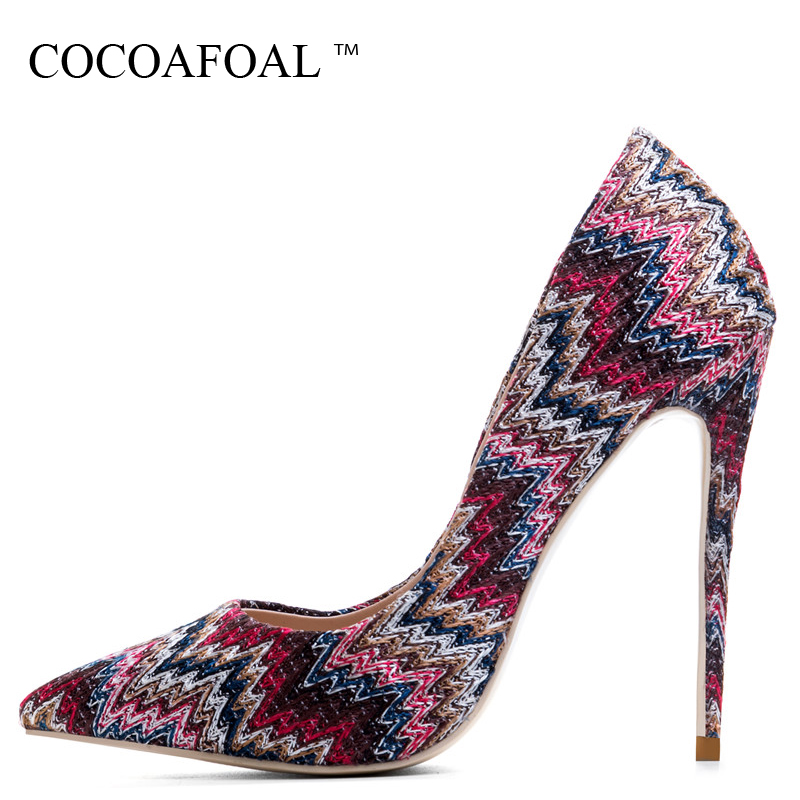 COCOAFOAL Woman Blue High Heels Shoes Red Pink Stiletto Plus Size 33 43 44 Wedding Sexy Pumps Mesh Shallow Party Valentine ShoesCOCOAFOAL Woman Blue High Heels Shoes Red Pink Stiletto Plus Size 33 43 44 Wedding Sexy Pumps Mesh Shallow Party Valentine Shoes