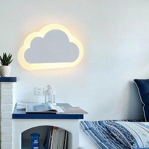 Image 5 - 8W Modern LED duvar ışığı oturma odası çocuk yatak odası dekoru bulutlar duvar lambaları akrilik ve demir minimalist aplik lambası AC 110V 220V 240V