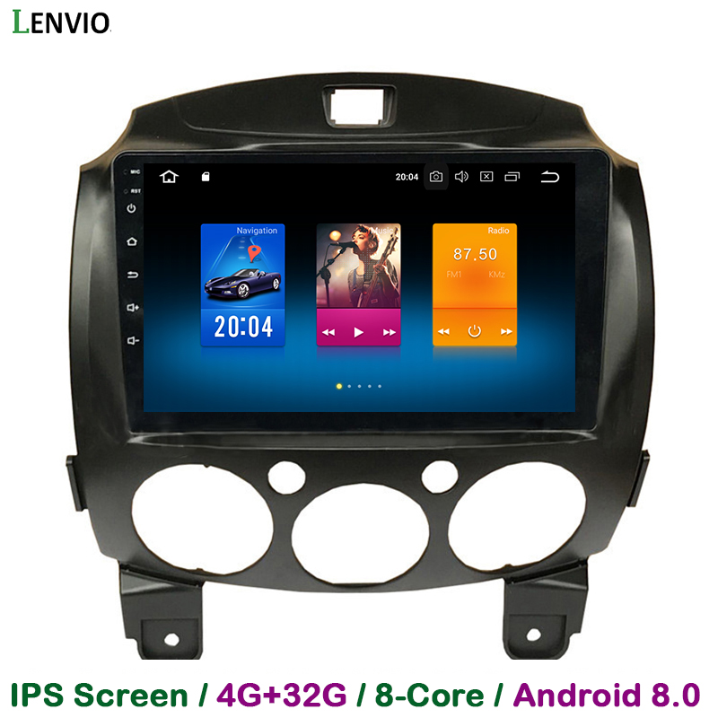 Lenvio IPS 4G RAM 32G ROM Octa Core Android 8.0 CAR DVD GPS Navigation player For Mazda 2 2007 2008 2009 2010 2011 2012 Radio 3G цена