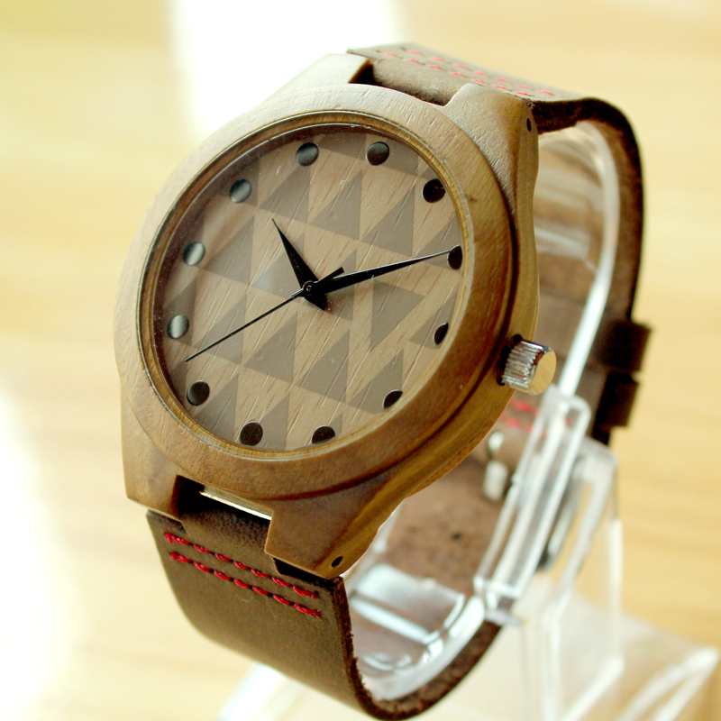 handmade product wrist watches natural quartz wooden watch vintage mens men sentai s