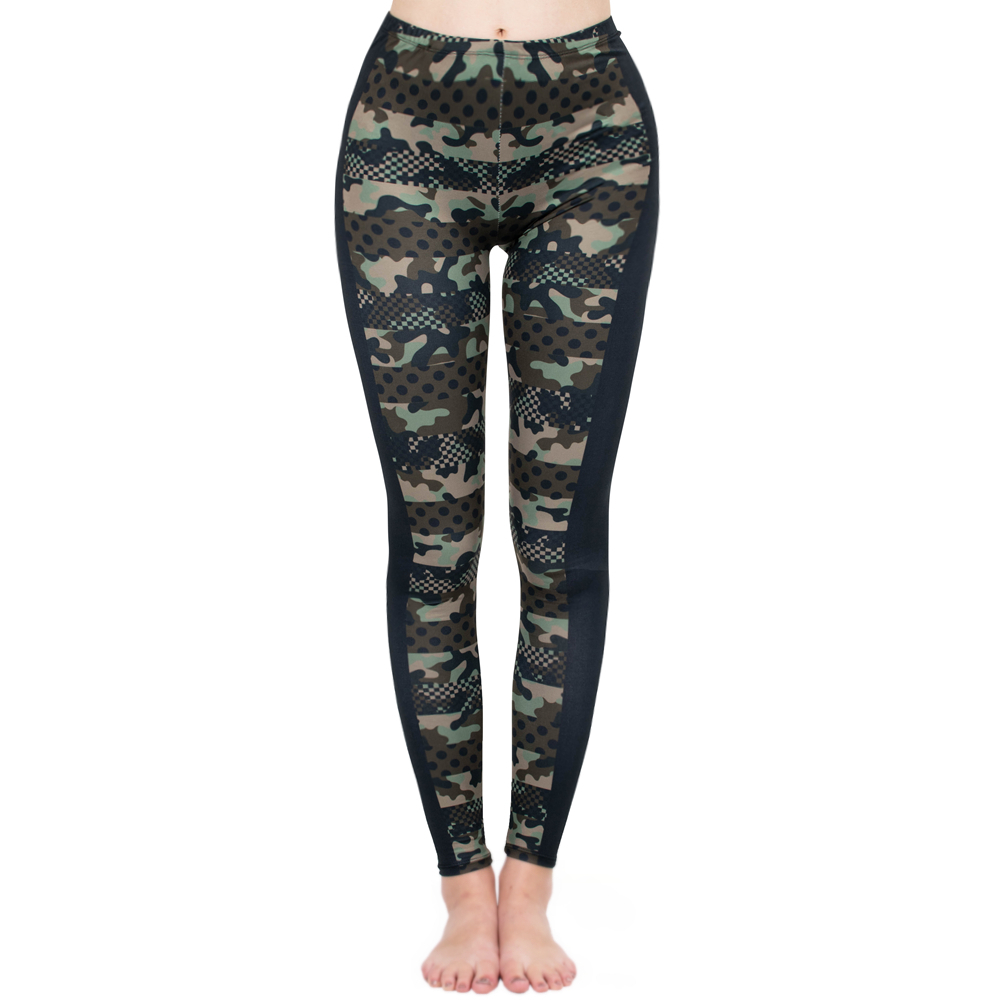 Brands Women Fashion Legging Imitation Camouflage Printing Leggins Slim  Punk Leggings Fitness Pants