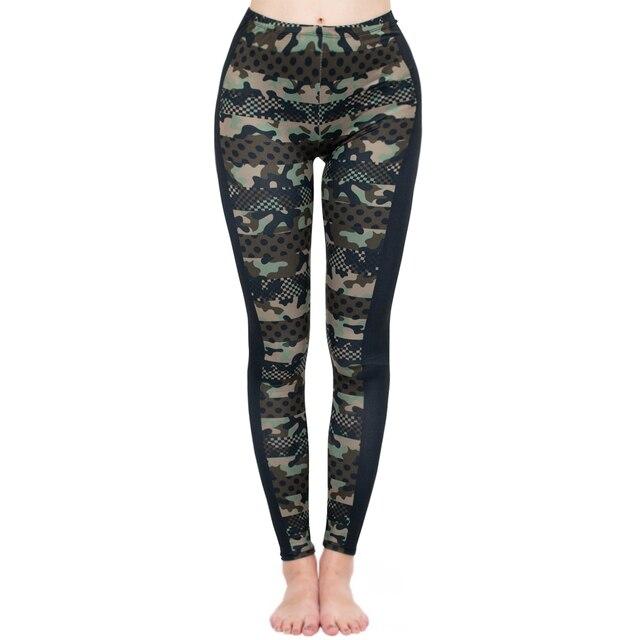 Brands Women Fashion Legging Imitation Camouflage Printing leggins Slim  Punk Leggings Fitness Pants