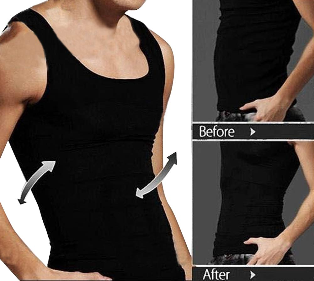 Men Body Shaper Vest Shapewear Slimming Belt Waist Control Shaper Corrective Tummy Belly Slim Underwear Vest for Man Black White