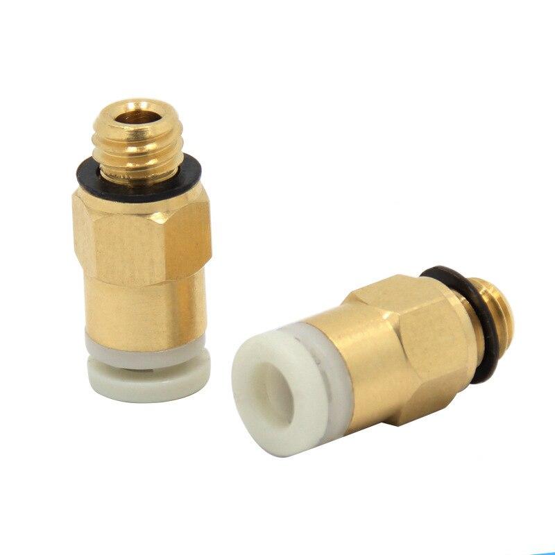 3pcs/lot Bowden remote Connector extruder M6 4*2mm telfon tubes Long Distance Feeding Joint for e3d Reprap 3D Printer parts