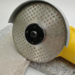 "Image 4 - SHDIATOOL 2pk 5"" Electroplated diamond cutting & grinding disc Bore 22.23 Diameter 125MM for marble granite tile ceramic"