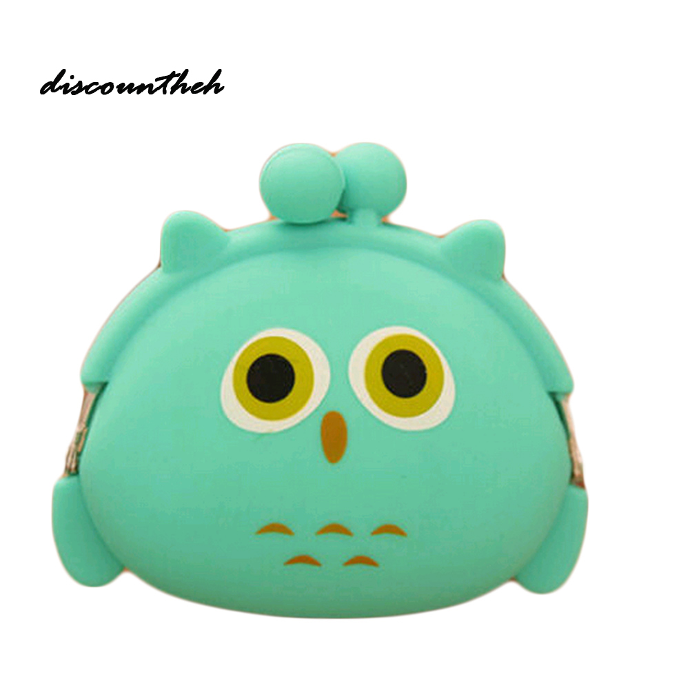 New  Multicolor Silicone Coin Bag Lovely Kawaii Candy Color Cartoon Animal Women Girls WalletPurse Kid Gift new fashion lovely kawaii candy color cartoon animal women girls wallet multicolor jelly silicone coin bag purse kid gift