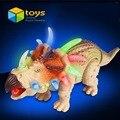 Мультфильм Животная Модель Игрушка Dinaur Миру Юрского Электрический Динозавров Развивающие Игрушки для Детей Дети могут Ходить Звук Мигающий Подарок