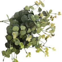 Eucalyptus money leaf with grass and flowers Snapdragon string simulation flower indoor home decor garden outdoor