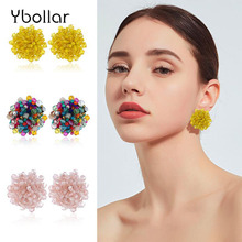 1 Pair Perfect Match Bohemia Earrings For Women Ethnic Handmade Beaded Ear Studs Earrings Wedding Party Jewelry Gift jen safrey a perfect pair