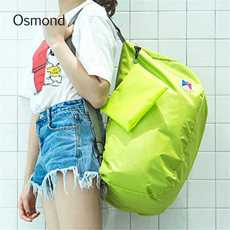 Осмонд путешествия вещевой рюкзак нейлон большая дорожная сумка складная багажные сумки для женщин сумки твердые повседневное Мужская тотализаторов