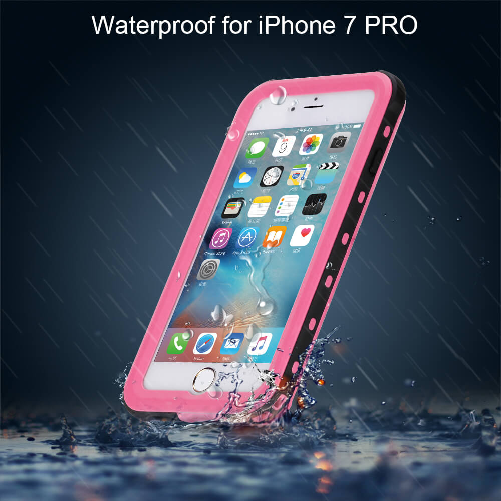 another chance a2e80 40129 US $12.14 19% OFF|For iphone 7 plus Waterproof Case RedPepper Ultra Slim  Cover for iphone7 7plus Water/Dirt/Diving Underwater PC TPU Armor-in Fitted  ...