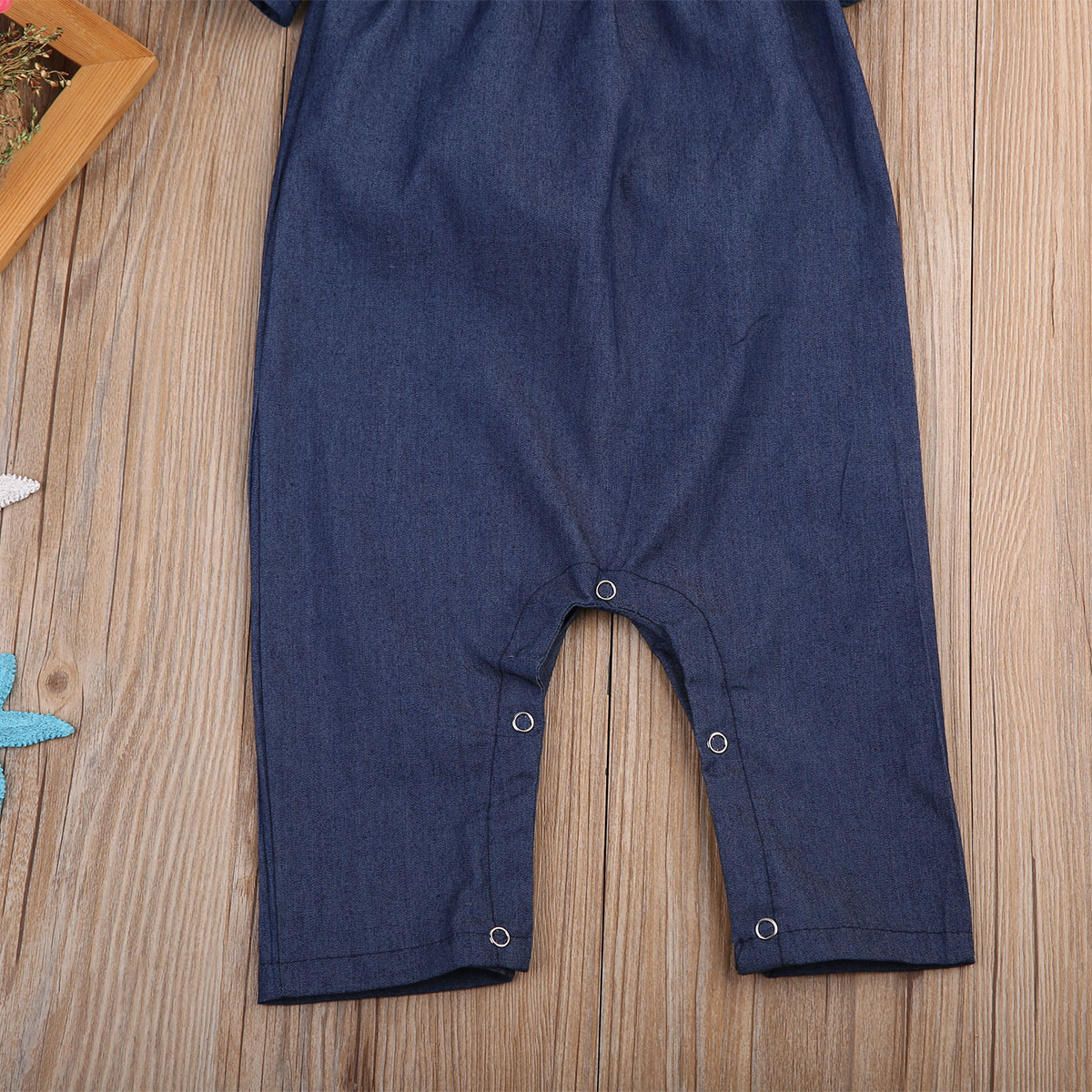 1029ce050 Fashion Toddler Kids Denim Romper 2017 Summer Fly Sleeve Off ...