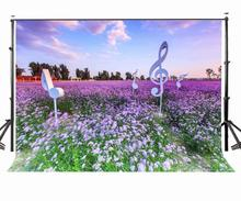 7x5ft Outdoor Scenery Backdrop Ultra Violet Color Flower Background Standing Notes Photography