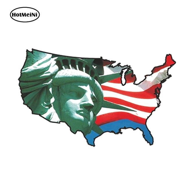 HotMeiNi Car Styling USA STATUE LIBERTY CAR STICKER UNITED STATES ...