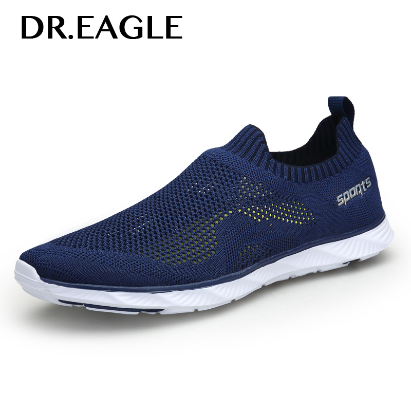 DR.EAGLE Outdoor Summer water aqua shoes for Men's gym sneaker sport socks Breathable light quick dry sneakers sea fishing shoes