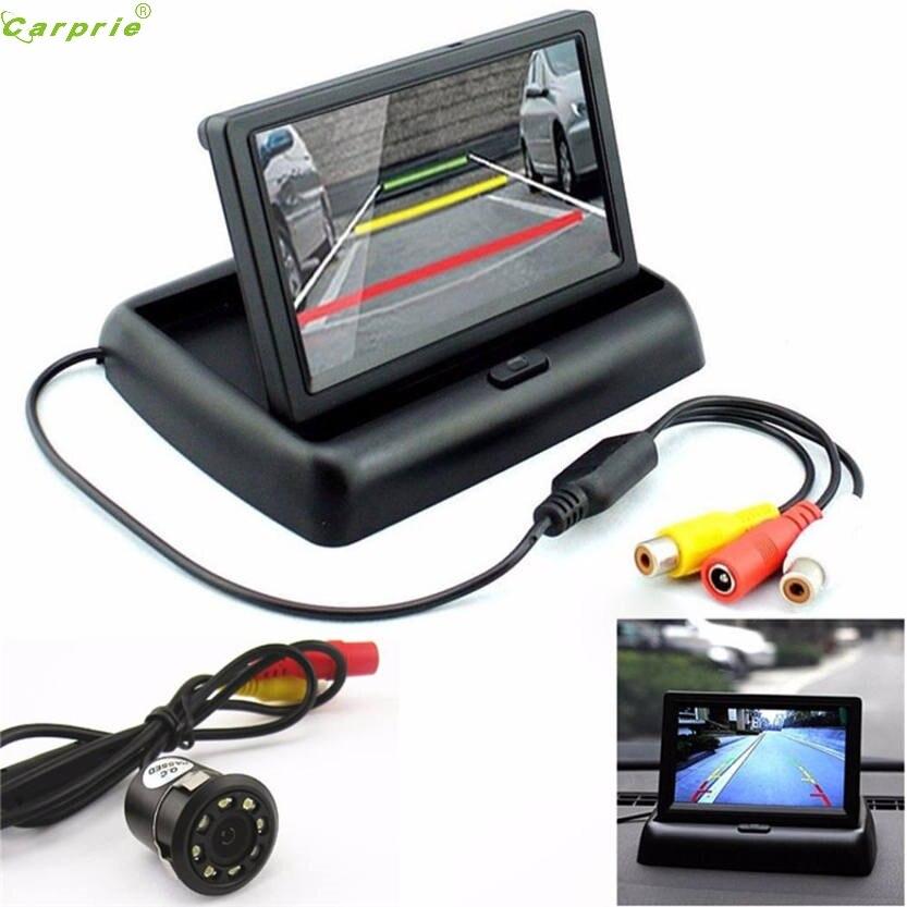 "Cls Auto Rückansicht 170 Grad 8led Nachtsicht Kamera & 4,3 ""faltbare Lcd Display Monitor August 10 5up"