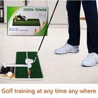 PGM de Golfe Instrutor Do Balanço Do Golfe Esteira de Treinamento Residencial Bater Borracha Pad Titular Tee Conjuntos Auxiliares De Treinamento de Golfe Putting Green