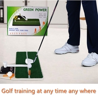 PGM Golf Swing Trainer Golf Mat Residential Training Hitting Pad Rubber Tee Holder Golf Training Aids Putting Green Sets