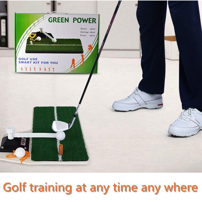 PGM Golf Swing formateur tapis de Golf entraînement résidentiel frapper Pad caoutchouc Tee titulaire Golf formation aides mettant des ensembles verts
