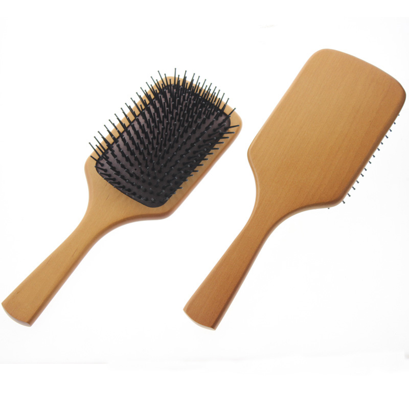 25.3*8.7*3.5cm Big Large Canada Wood Made Best Women Men Professional Paddle Hair Brush And Comb