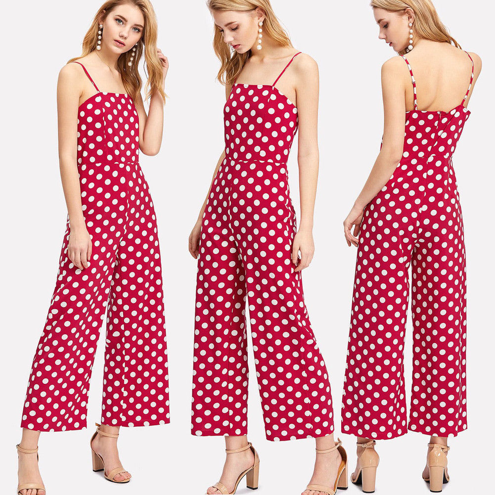 Rompers Women Jumpsuit One Piece Suit Cute Dot Printed ...