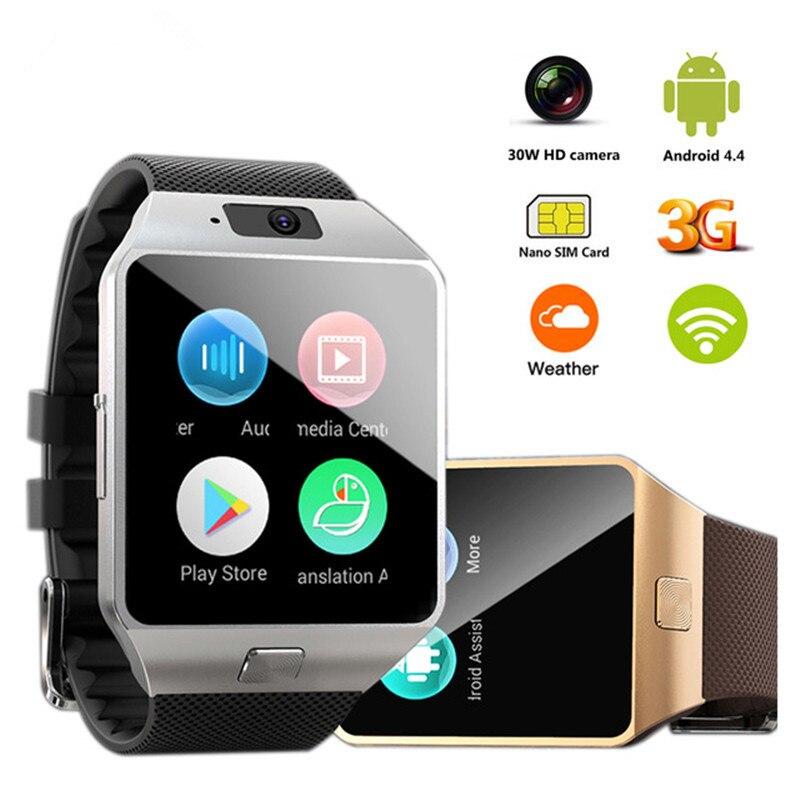 QW09 montre intelligente Android 4.4 3G WIFI 512 mo/4 GB Bluetooth 4.0 réel-podomètre carte SIM appel Smartwatch hommes femmes PK DZ09