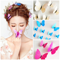 bride butterfly hair accessories barrettes hair jewelry high quality stereo butterfly hairpins bridal hair ornaments