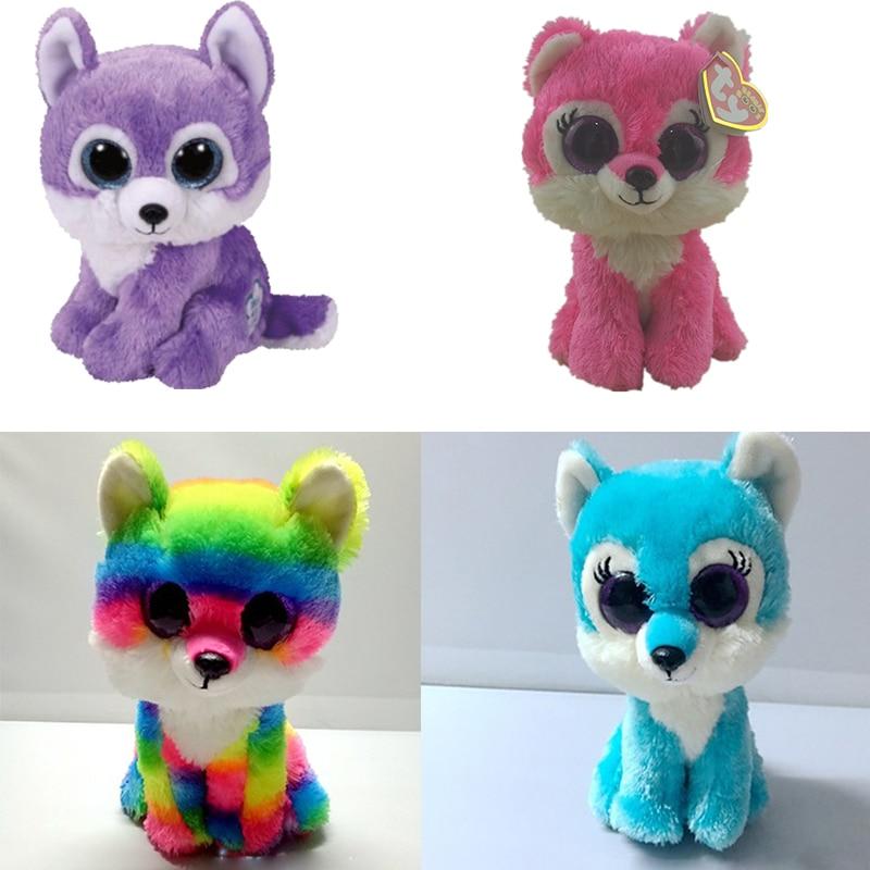 "Ty Beanie Boos 6"" Jade Sierra Iris 6"" Great Wolf Big Glitter Eyes 15cm Plush Stuffed Animals Doll Toys Collection Christmas Gift"