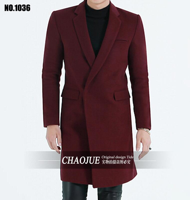New Arrival Men s Brief Slim Medium long Wool trench Coat Plus Size Woolen Outwear Winter