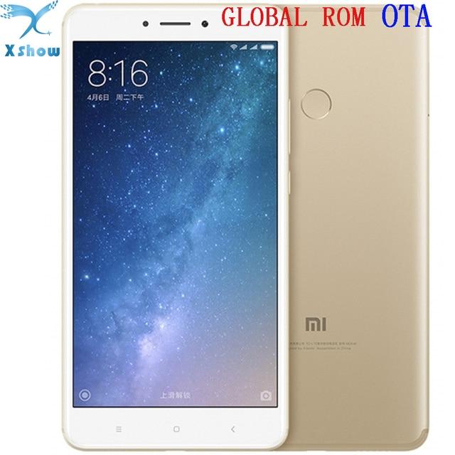 Оригинал Сяо Mi Ми Max2 Xiaomi Max 2 Snapdragon625 Восьмиядерный отпечатков пальцев ID FDD LTE 4 г 12MP 6.44 1080 P Мобильные телефоны