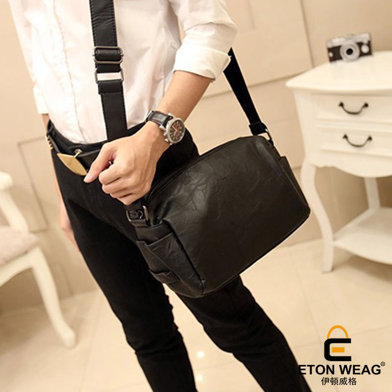 ETONWEAG Soft Cow Leather Crossbody Bags For Women Famous Brands Black Vintage Messenger Bags Business Girl Hobos Woman Bag 2018 icev new brands simple cow leather crossbody bags for women messenger bags high quality ladies bag made of genuine leather bags