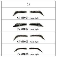 цена на Neitsi Men's Fake Eyebrows 100% Hand Made Human Hair False Eyebrows