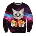 2017 hombres de la primavera/cabeza creativa de las mujeres sudaderas 3d divertidos cat pintor tops clothing nuevo diseñador para hombre cool cat patrón hoddies