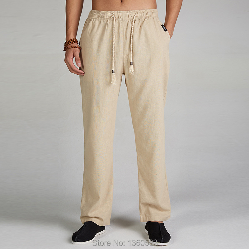 27e61249df High-quality Chinese Men's Kung Fu Pants Linen Cotton Trousers Martial Arts Trousers  Sport Pants free shipping