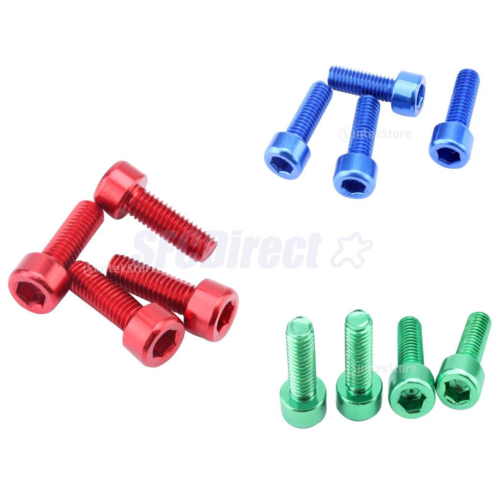 Blue Gold fits for Most Bikes Bicycles MagiDeal 8Pcs//Lot Water Bottle Cage Bolts Holder Screws Hex Socket Screws