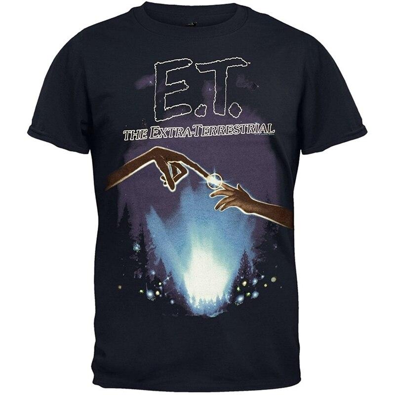 T Shirt Shop Short Men Funny Crew Neck E.T. - Lights T Shirt