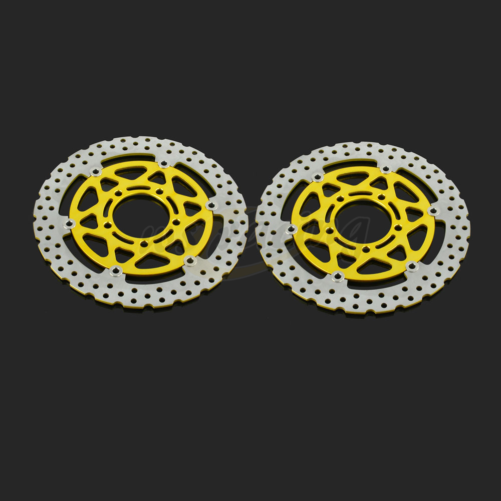 300MM Motorcycle Front Wavy Floating Brake Disc Rotor For KAWASAKI ZX6RR ZX6R ER-6F NINJA 650R ER-6N Z750 Z1000 ZX10R VERSYS1000 keoghs real adelin 260mm floating brake disc high quality for yamaha scooter cygnus modify