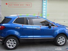 New! 2013 Ford Ecosport stainless steel full window sill trim 14pcs for Ford Ecosport 2013 2014