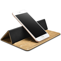 Luxury Multifunctional Genuine Leather Universal Cell Phone Tablet PC Laptop Holder Stand Foldable Case For Apple
