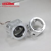 Free Shipping IPHCAR Car Styling Automobiles WST CCFL Angel Eyes Halo HID Bi Xenon Projector Headlight