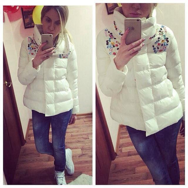 Aliexpress.com : Buy Warm Winter Jacket Women 2015 Rhinestone ...