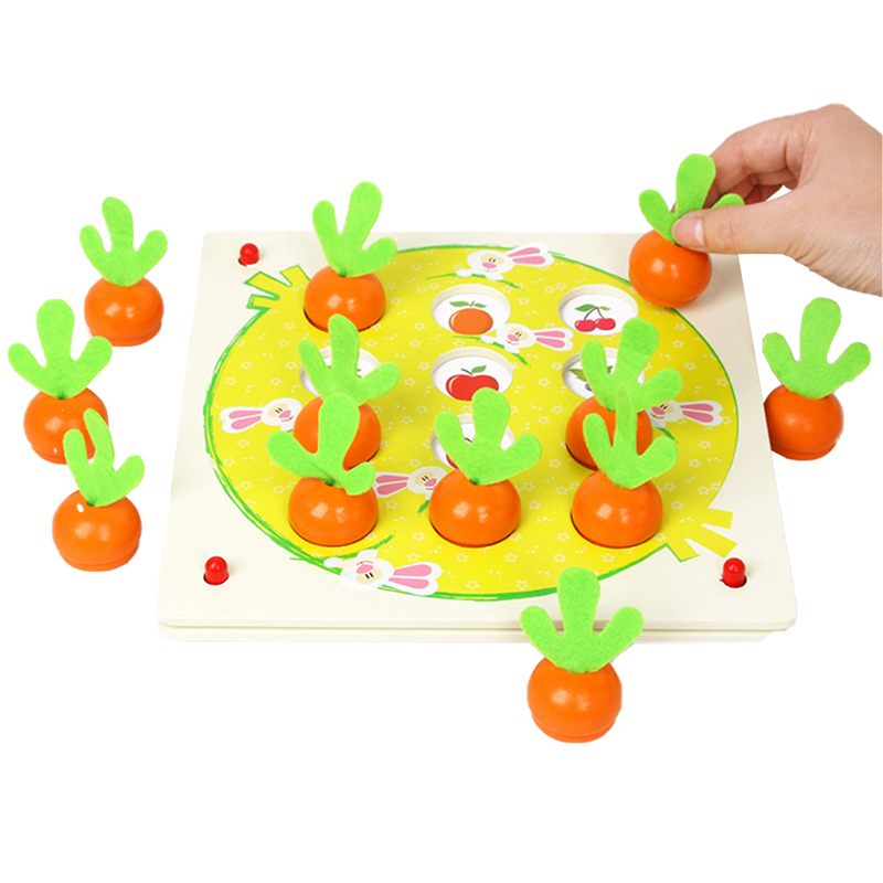Children'S Radish Memory Chess Parent-Child Interaction Table Games Intelligence Development Early Educational Training Toy