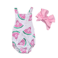 Baby Clothing Overalls for newborns Children's pajamas Baby Girl Watermelon Clothes overalls Romper Products for children